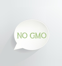No GMO vector image