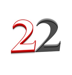Number two design vector