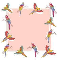 Parrot frame vector image
