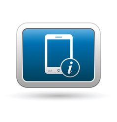 Phone with information icon vector image