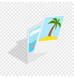 Photographs from vacation isometric icon vector