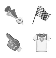 pipe uniform and other attributes of the fans vector image