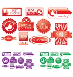Promo stickers vector
