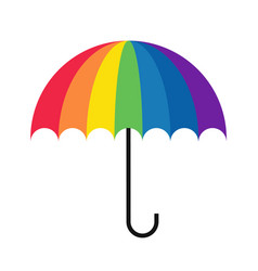 rainbow umbrella simple vector image vector image