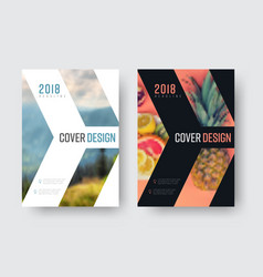 report cover template in a minimalistic style vector image
