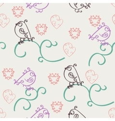 Retro abstract valentine seamless pattern vector image vector image