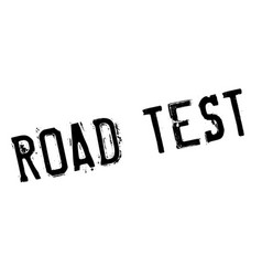 road test rubber stamp vector image