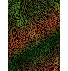 seamless leopard pattern vector image