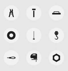 Set of 9 editable apparatus icons includes vector