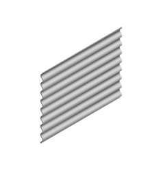 sheet of wave slate in isometric vector image vector image