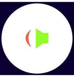 Speaker computer symbol vector image vector image