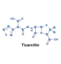 Ticarcillin is a carboxypenicillin antibiotic vector