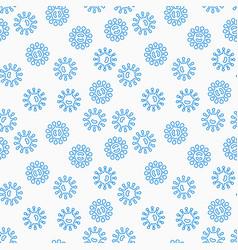 virus or bacteria seamless pattern vector image