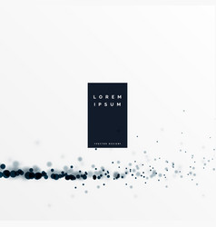 White background with black particle effect vector