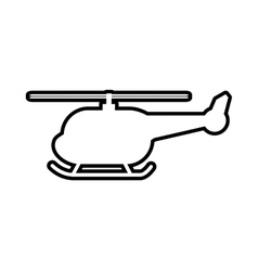 Helicopter transportation delivery travel icon vector