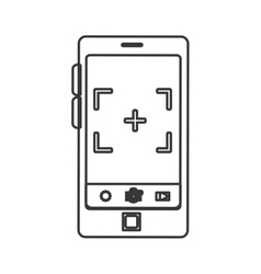 Smartphone device with photographic app vector