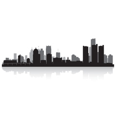Detroit USA city skyline silhouette vector image