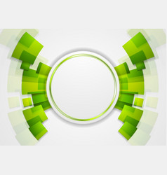 Green shiny hi-tech background vector