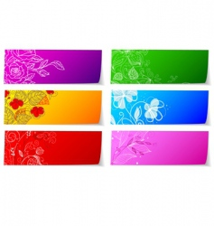 stickers floral vector image