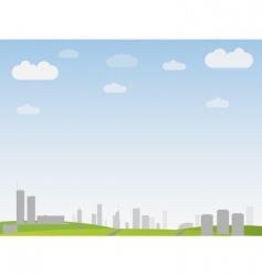 Simple city landscape vector