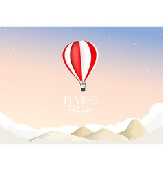Hot air balloon travel background vector