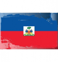 Haiti national flag vector