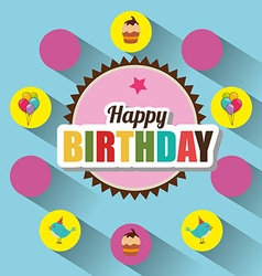 Happy birthday card design vector