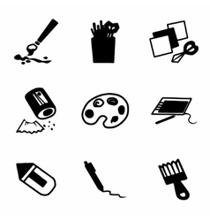 Art tool icon set vector