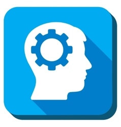 Intellect flat icon vector