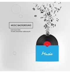 Music plate pack background isolated vector