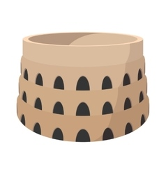 Roman colosseum cartoon icon vector