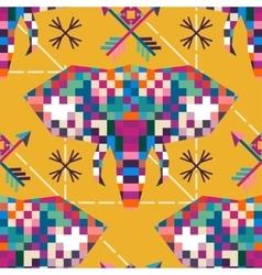 Animal head elephant triangular pixel icon vector