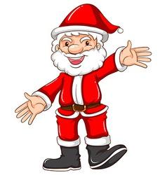 A simple sketch of a happy santa claus vector