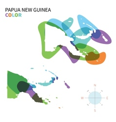Abstract color map of Papua New Guinea vector image
