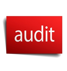 Audit red paper sign isolated on white vector