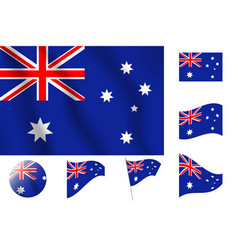 Australia flag realistic flag national symbol vector