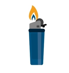 Blue gas lighter flame icon vector