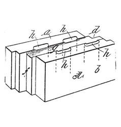 Building block thing vintage engraving vector