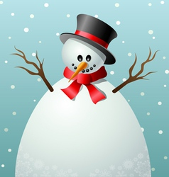 Cartoon snowman text frame vector image vector image