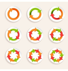 Circle arrow icon vector image