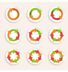 Circle arrow icon vector image vector image