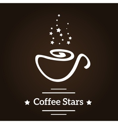 Coffee stars vector image