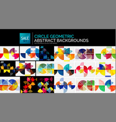 Collection of geometric abstract backgrounds vector