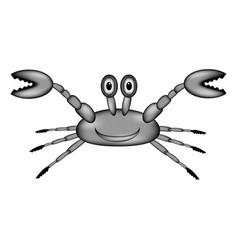 crab sign icon vector image vector image