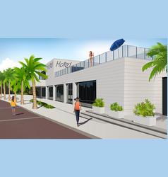 Dalmation riviera hotel vector