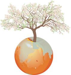 Earth - apple tree vector