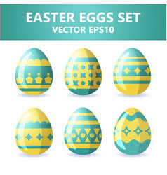easter eggs icons easter eggs for easter holidays vector image vector image