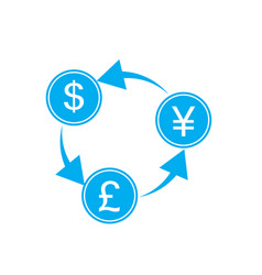 exchange money on white background exchange money vector image vector image