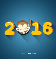 Happy New Year 2016 Year of Monkey vector image