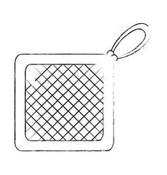 Kitchen rag isolated icon vector